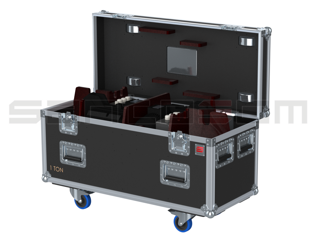 Santosom Rigging  Flight case PRO, 2x Vicinay ABK101-1004U 1T