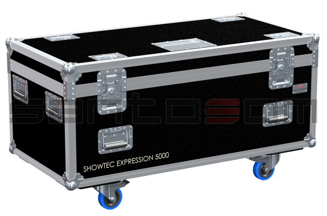 Santosom Moving Head  Flight Case, 6x Showtec Expression 5000 + Acess.