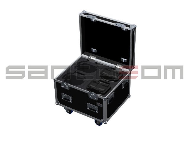 Santosom Moving Head  Flight Case, 4x GLP Volks Licht