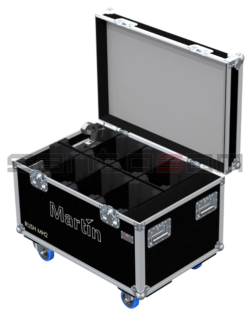 Santosom Moving Head PRO Flight Case PRO, 8x Martin Rush MH 2 Wash