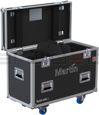 Santosom Flight Case Moving Head PRO 2x Martin Rush MH1 Profile / Profile Plus