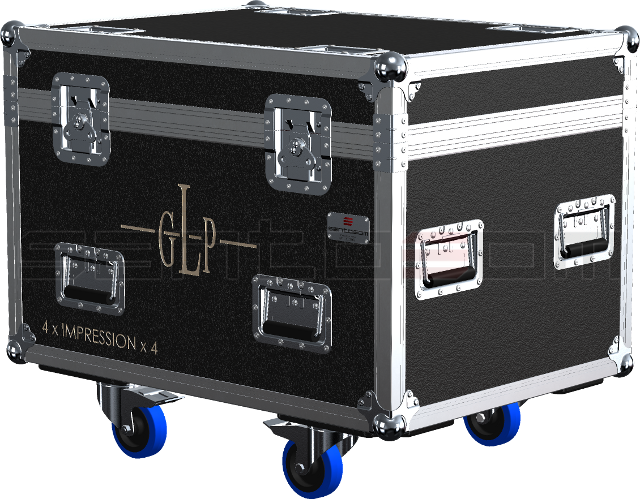 Santosom Moving Head  Flight case, 4x GLP Impression X4