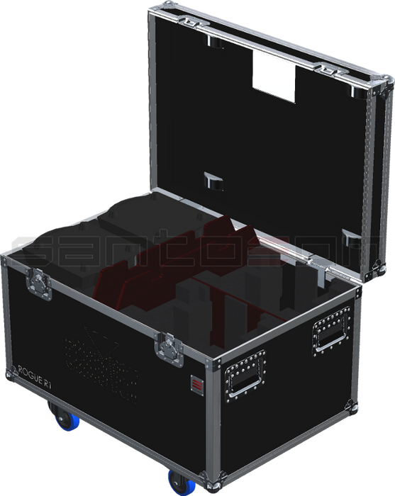 Santosom Moving Head PRO Flight Case PRO, 4x Chauvet Rogue R1