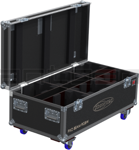 Santosom Moving Head PRO Flight Case PRO, 6x Showtec PXO BEAM RGBW