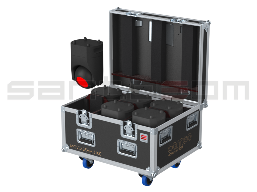 Santosom Moving Head PRO Flight Case PRO, 6x Cameo Movo Beam Z100