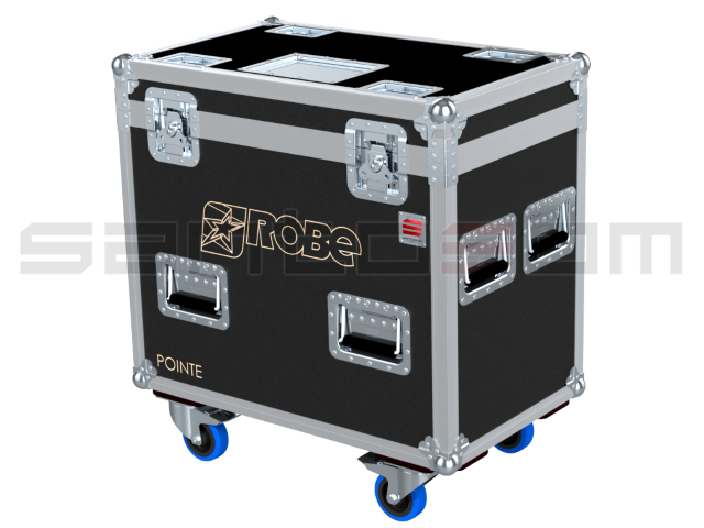 Santosom Moving Head  Flight Case PRO, 2x Robe Pointe