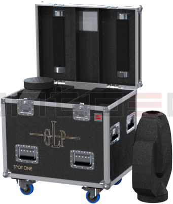 Santosom Moving Head  Flight Case PRO, 2x GLP Impression Spot One