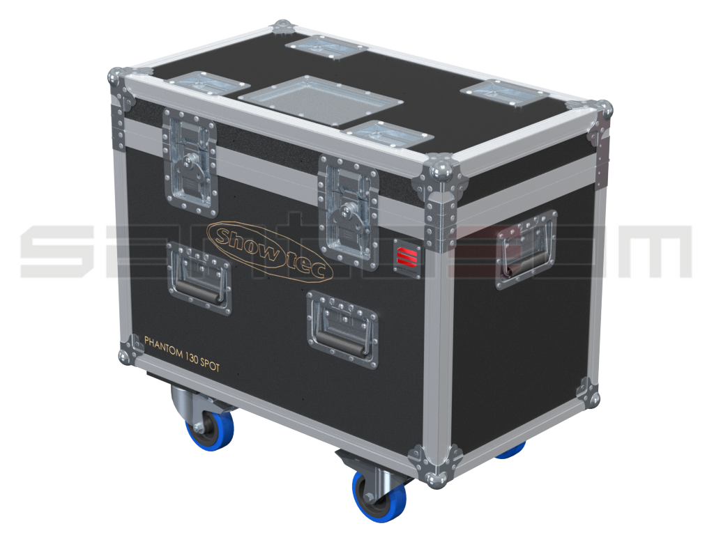 Santosom Moving Head PRO Flight Case PRO, 2x Showtec phantom130 Spot 2017