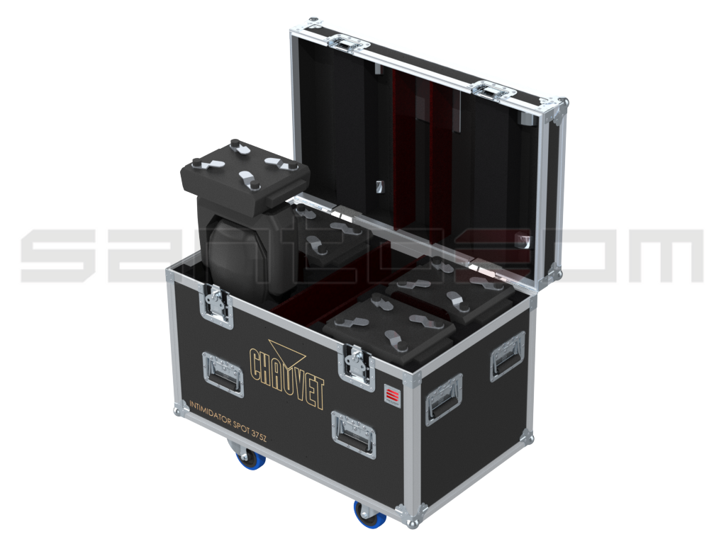 Santosom Moving Head PRO Flight case PRO, 4x Chauvet Intimidator Spot 375Z IRC