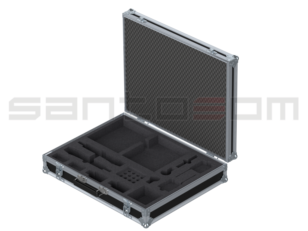 Santosom Microphone  Flight case, 2x Wireless System Sennheiser ew-G3