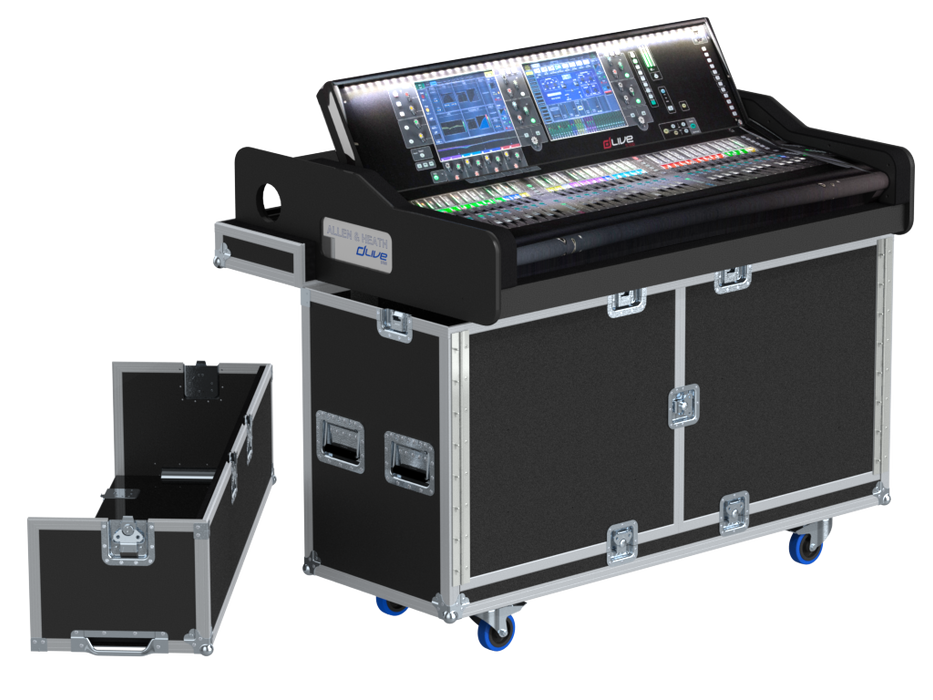 Santosom Mixer  Flight Case RTU, Allen & Heath DLive S7000