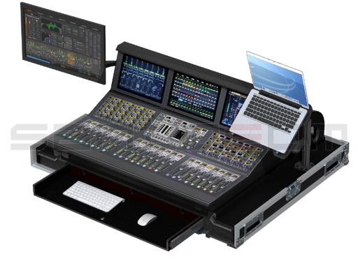 Santosom Mixer  Flight case PRO-3, Avid S6L-24D Control Surface