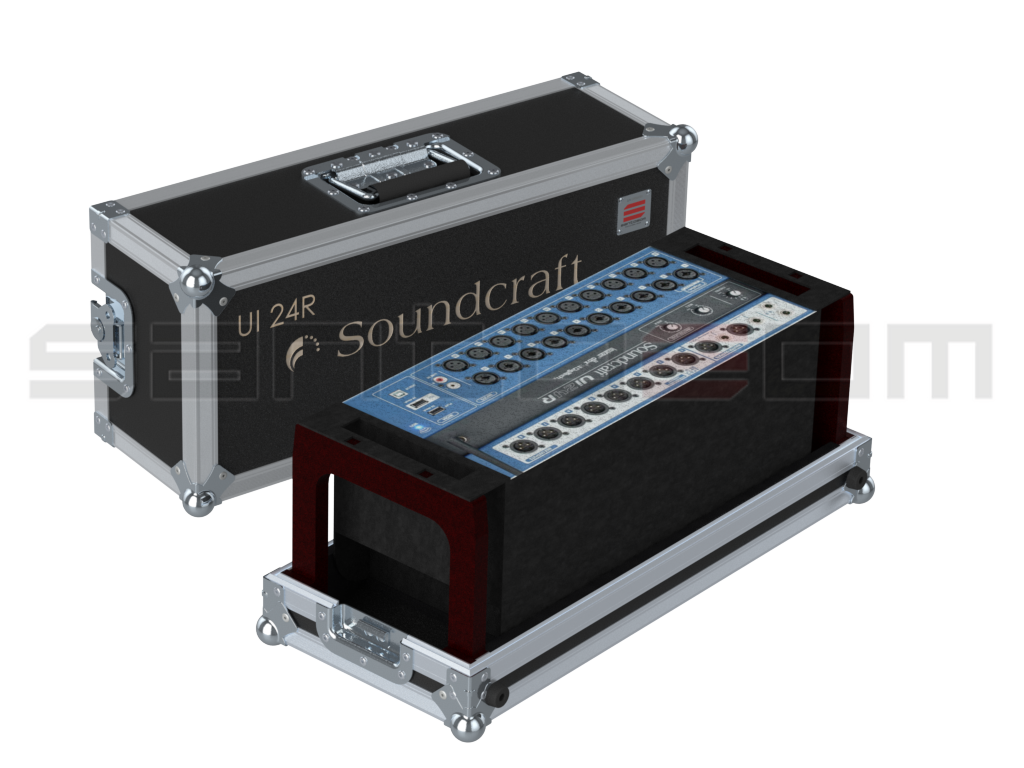 Santosom Mixer  Flight case, Soundcraft Ui24R