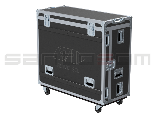 Santosom Mixer  Flight case PRO-3, Avid S6L-24C Control Surface