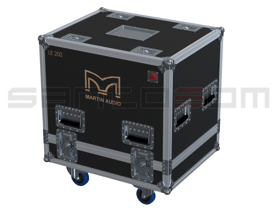 Santosom Monitor  Flight Case PRO, 2x Martin LE200