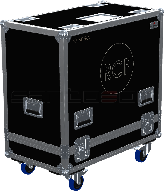 Santosom Monitor  Flight case, 2x RCF NX M15-A