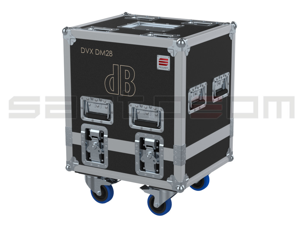 Santosom Monitor  Flight Case Pro, 2x DB Technologies DVX DM28