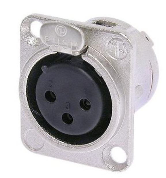 Neutrik XLR  3 pole feMale receptacle, solder cups