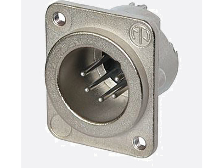 Neutrik XLR  5 pole male receptacle, Nickel housing