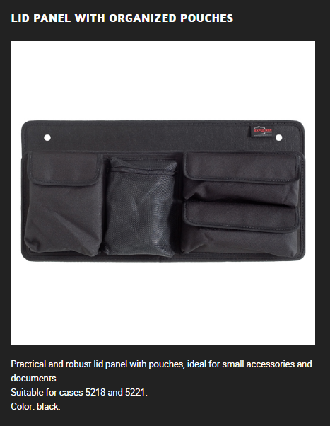 Explorer Accessory  Explorer Lid Panel With Organized Pouches