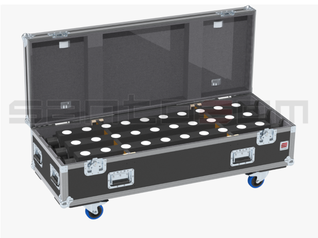 Santosom Projector  Flight Case PRO, 6x Showtec Sunstrip Tricorno