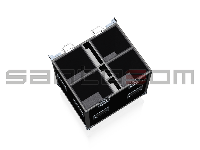 Santosom Projector  Flight case PRO, 4x ETC S4 19°, 26°, 36° & 50° + Access.