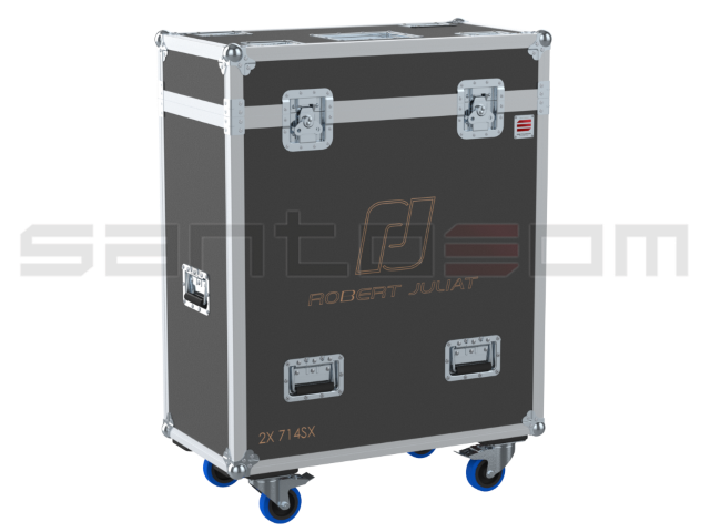 Santosom Projector  Flight case PRO, 2x Robert Juliat 714SX