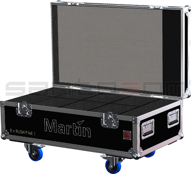 Santosom Projector  Flight case, 8x Martin Rush PAR-1