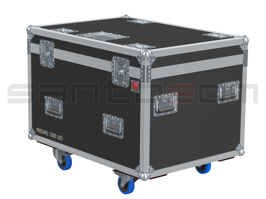 Santosom Projector  Flight Case PRO, 6x Showtec Fresnel 1000led