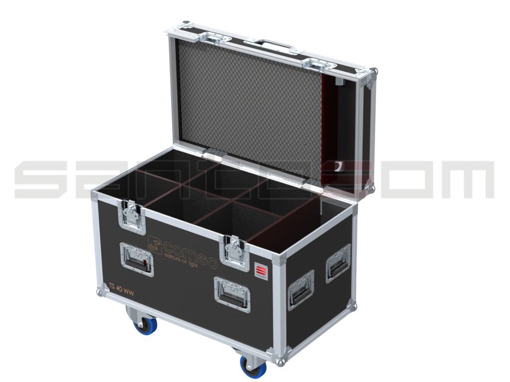 Santosom Projector  Flight case, 6x CAMEO CLTS40WW, Clamps on 120mm