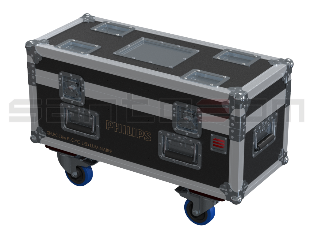 Santosom Projector  Flight Case PRO, 2x Philips Selecom PLCyc Led Luminaire