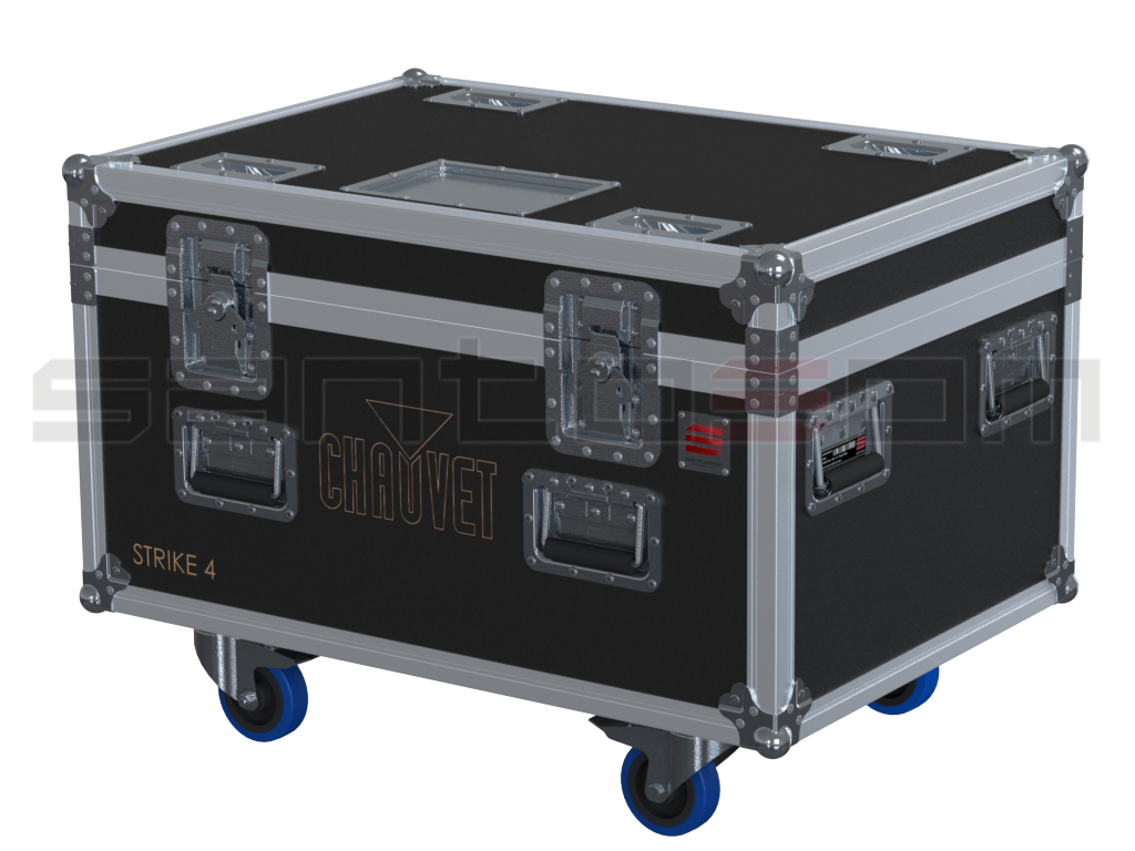 Santosom Projector  Flight Case PRO, 4x Chauvet Strike4