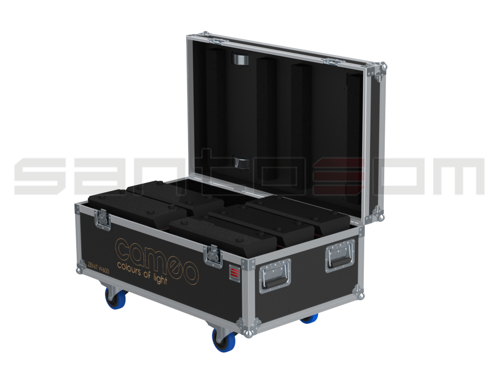 Santosom Projector  Flight case, 6x Cameo Zenit W600