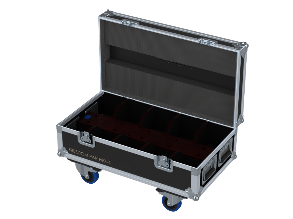 Santosom Projector  Flight case PRO, 10x Chauvet Freedom Par Hex-4 / Quad-4
