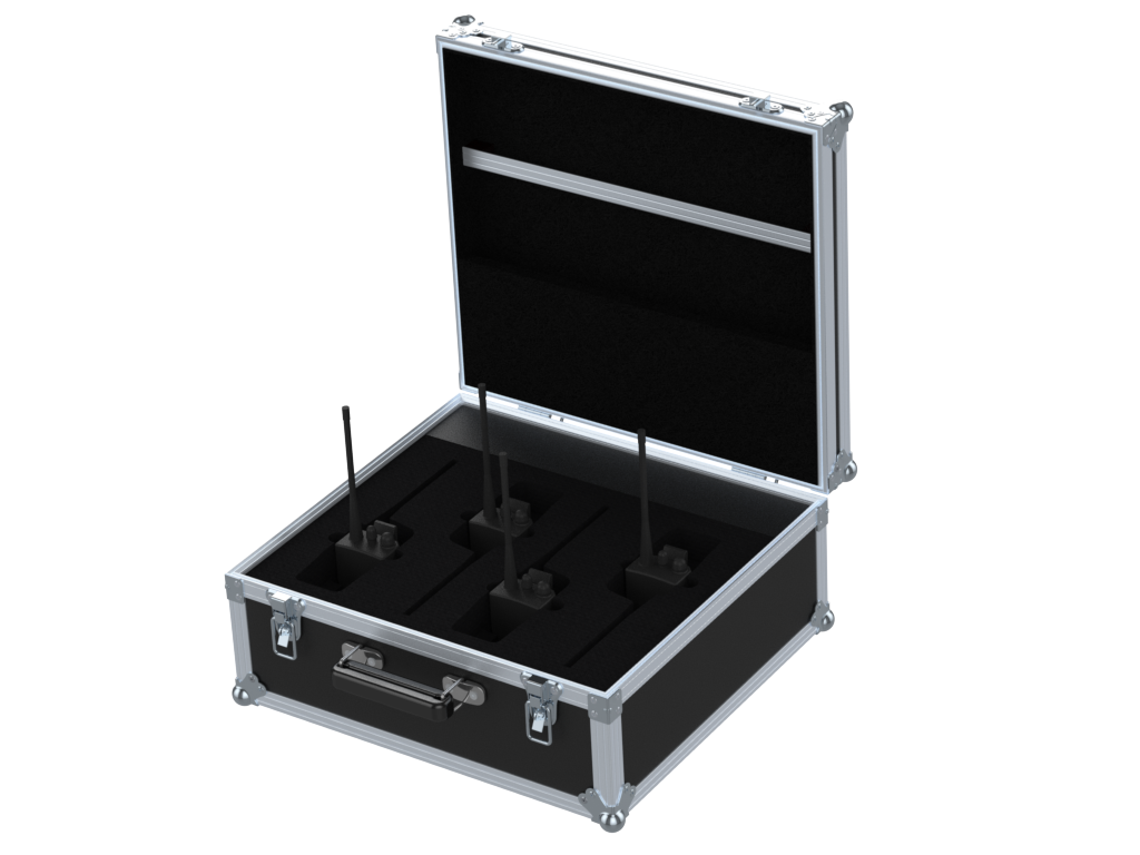 Santosom   Flight case PRO, 4x Portable Radio RP1