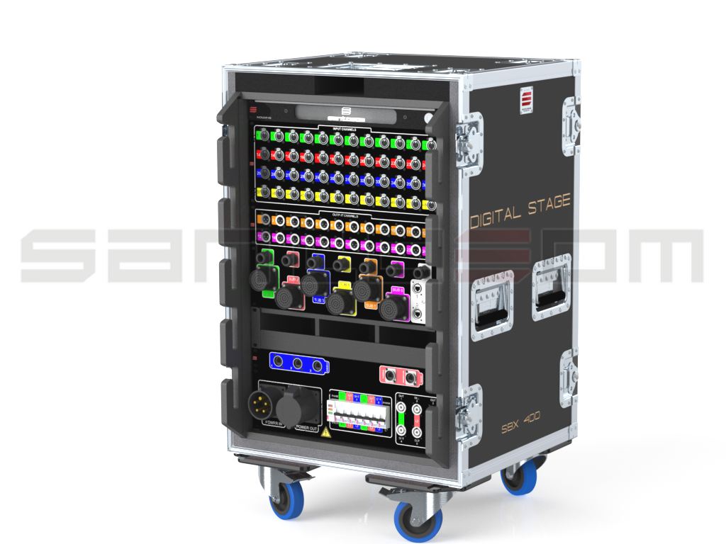Santosom Signal Distro  Stage-Box, digital 48-in 24-out, 2LK150