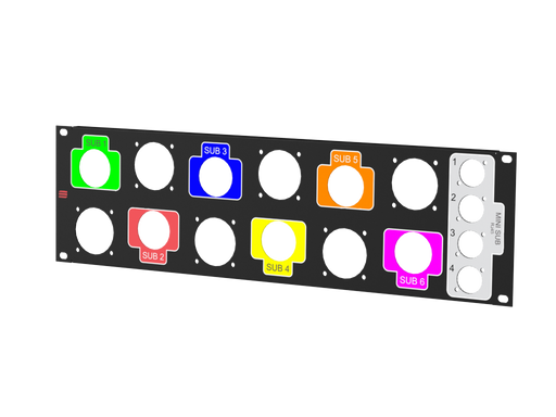 Santosom   Rack Panel For StageBox 3U, 6X LK37 + 4X RJ45