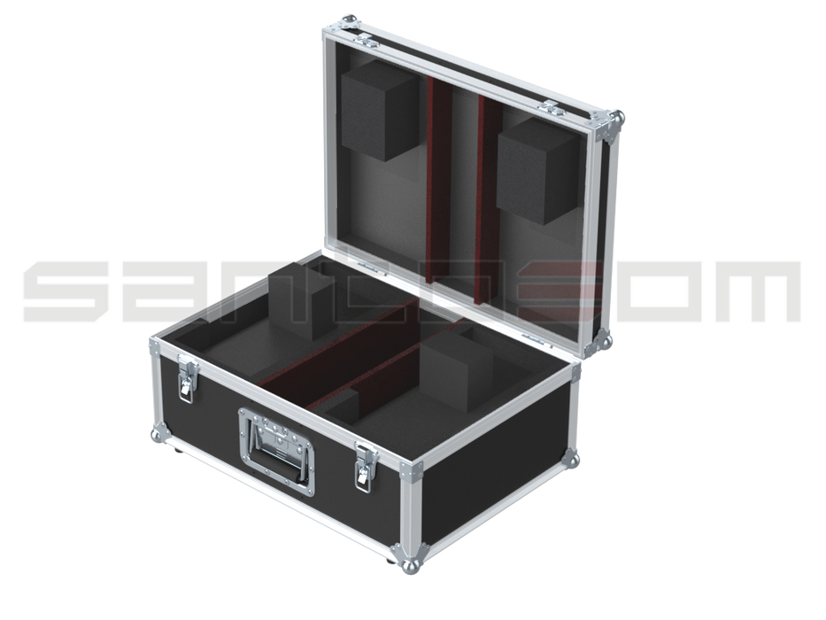 Santosom   Flight case, 2x Eurolite LED TSL-150 (clamps on)