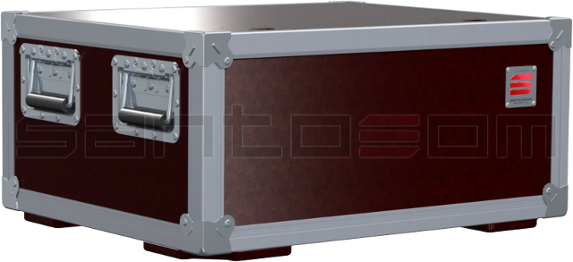 Santosom   Flight Case X-Box, 2x Showtec Atmos F-350