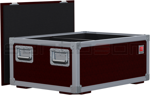 Santosom   Flight Case X-Box, 2x Showtec Atmos 2000