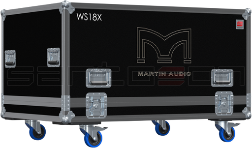 Santosom Backline PRO Flight Case PRO, 2x Martin Audio WS18X