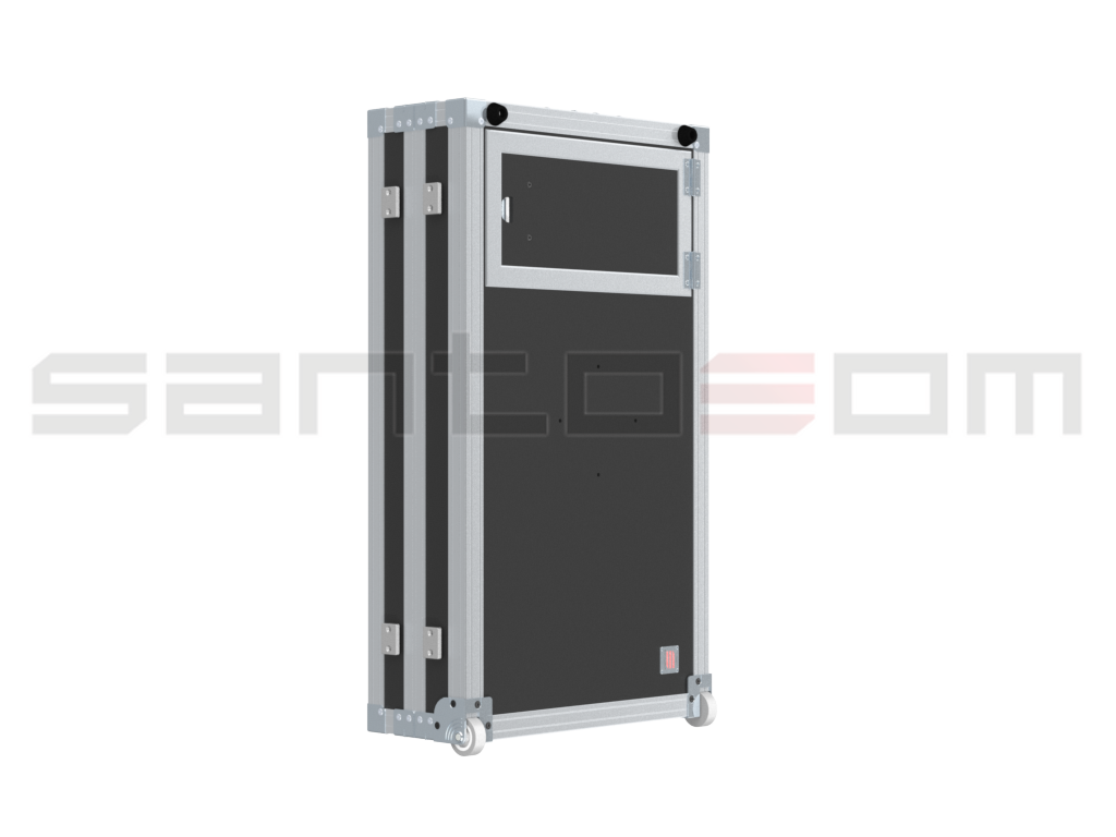 "Santosom Custom Made  Flight case, 2x TFT 32"" (max: 750x450x100)"