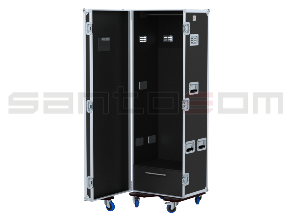 Santosom   Flight case Wardrobe 205