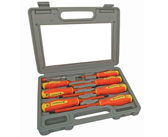 Cabac Screwdriver Set with Case 1000V 8 Piece - Tools&Gear