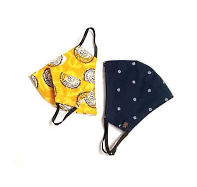 navy-yellow-circle Reusable  Cotton Face mask in online Australia | Tools & Gear