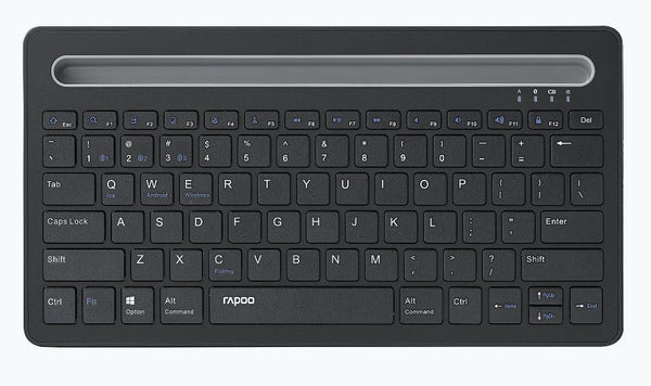 RAPOO XK100 Bluetooth Wireless Keyboard - Switch Between Multiple Devices, Ideal for Computer, Tablet and Smart Phone - For Windows, Mac, Andriod, iOS