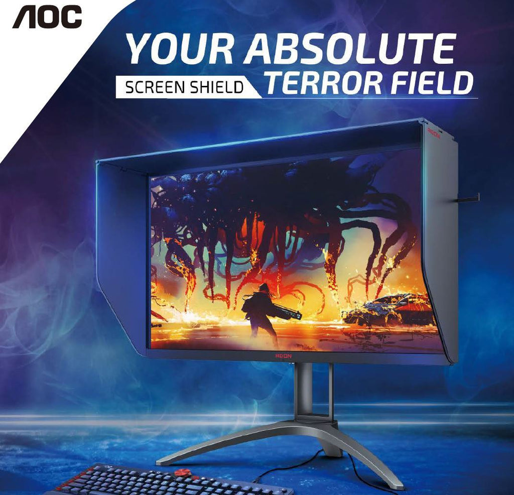 AOC AGON 27' Nano-IPS 1ms 170Hz 2K 2560x1440, HDR 400, FreeSync 2, Screen Shield Gaming Monitor, 2x HDMI 2.0 and 2x DP 1.4,  VESA75mm Light FX