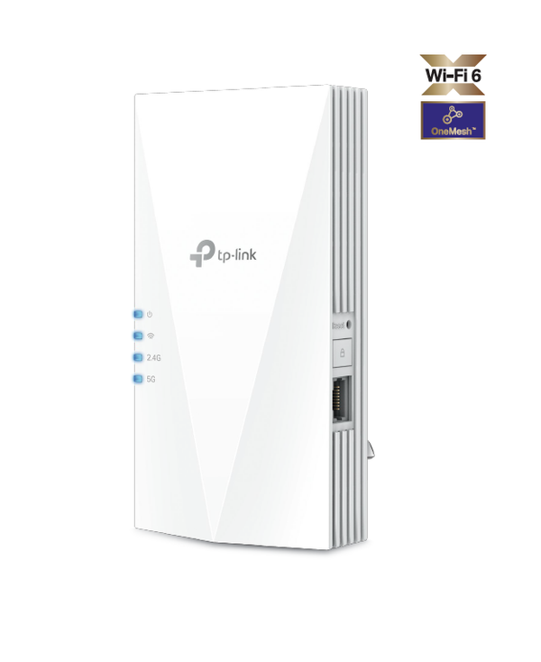 TP-Link RE505X AX1500 Wi-Fi Range Extender, WIFI6, OneMesh, Whole Home Coverage, AP Mode, Gigabit Ethernet Port