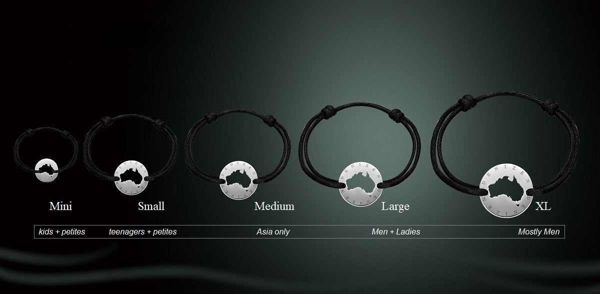 Denizen World Bracelet Sizes