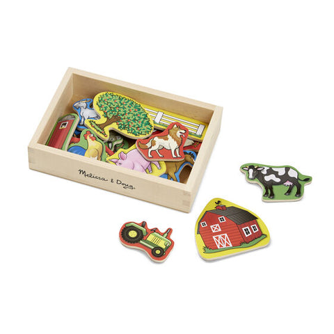 Toys-Wooden Farm Magnets